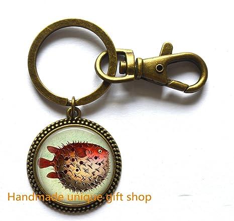 Amazon.com: Rosa pez llavero joyas de pescado – bonito pez ...
