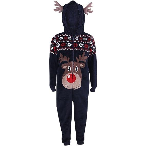 Kids Girls Boys Reindeer Halloween Costume A2Z Onesie One Piece Soft Fluffy 3-13