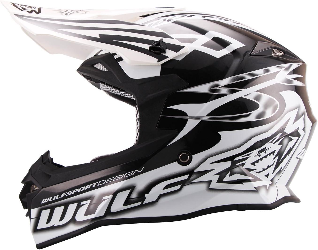 Orange XL Wulfsport Adult Sceptre Motorbike Helmet /& Wulf Adult Motocross Goggles /& Gloves 61-62cm