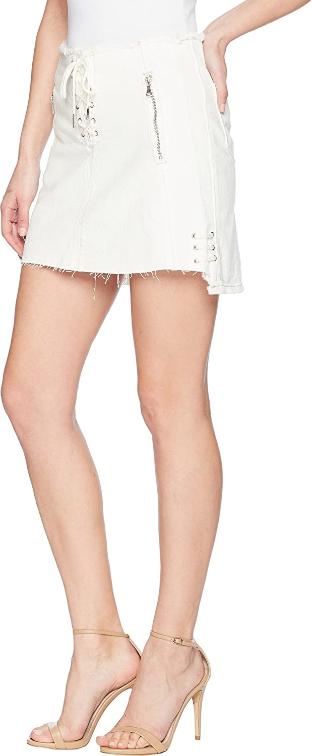 af295968337 Blank NYC Women s Lace-Up A Line Skirt in Neutral Ground at Amazon Women s  Clothing store