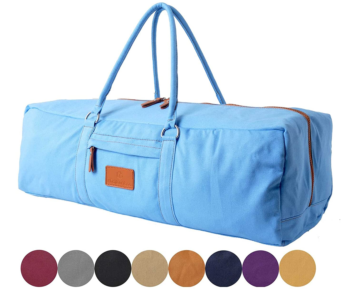 Yoga Mat Bag »Ghanpati« from #DoYourYoga / made of 100% fine canvas (sailcloth)- carry kit (multifunctional storage like towel, wallet ..) pilates fitness & aerobics mats up to a size of 186x62x1.5cm #DoYourSports