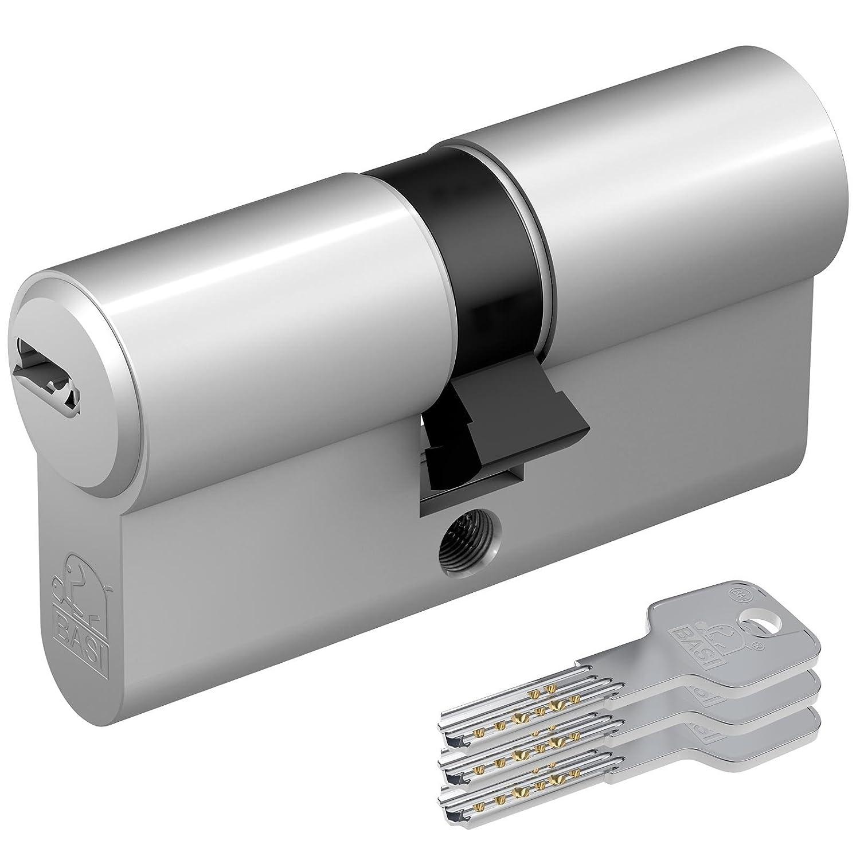 verschieden schlie/ßend,30//60mm mit 10 Schl/üsseln Basi AS-Profil-Doppelzylinder