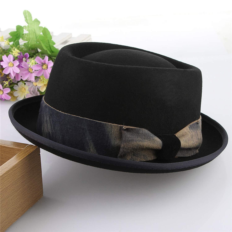 Men Vintage Bowknot Wool Fedora Top Hats Steampunk Hat Men Church Jazz Caps Warm Winter Hats