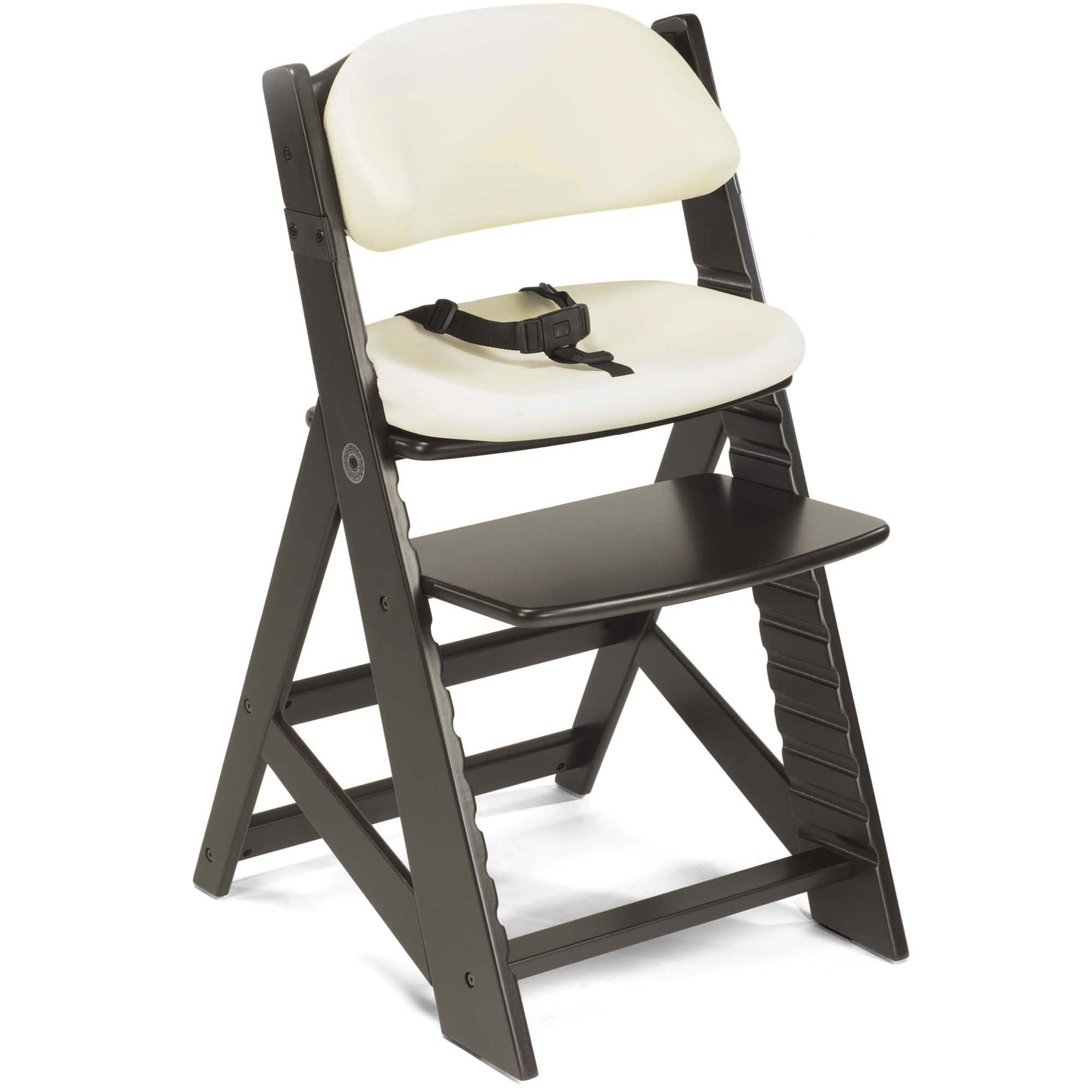 Keekaroo Height Right Kids Chair with Comfort Cushions - Vanilla - Espresso Base