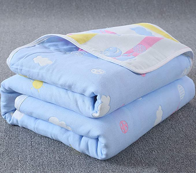 Amazon.com: ATR Baby Bath Towel Cotton Gauze Bath Newborn Towel Quilt Baby Blanket Holding Water-Absorbing Childrens Air Conditioner: Sports & Outdoors
