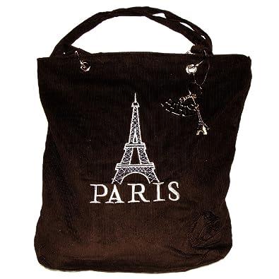 Amazon.com: Recuerdos de Francia – Paris pana bolsa con ...