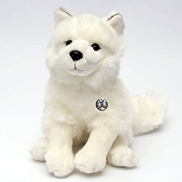Arctic White Wolf Ishta Polarwolf 24 Cm Sitting Plush Toy Plush Wolf
