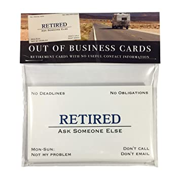 Amazon out of business cards funny retirement gift toys games out of business cards funny retirement gift reheart Images