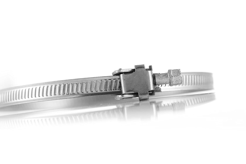 Hon/&Guan Stringitubo in Acciaio Inox /ø60mm-/ø110mm Worm Regolabile Tubo Morsetto per Inline Polvere Ventilatore Confezione da 2 Pezzi
