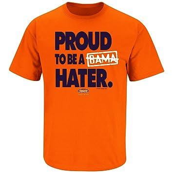 Smack Apparel Auburn Football Fans Proud To Be A Hater Anti Alabama Orange T Shirt Sm 5x
