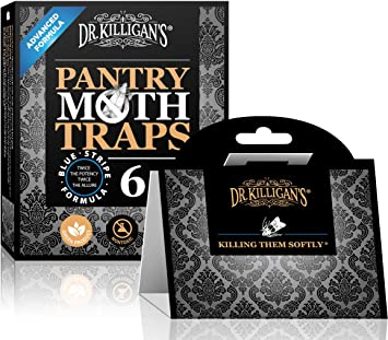 Dr. Killigans Premium Pantry Moth Traps with Pheromones Prime | Safe, Non-Toxic with No Insecticides | Sticky Glue Trap for Food and Cupboard Moths ...