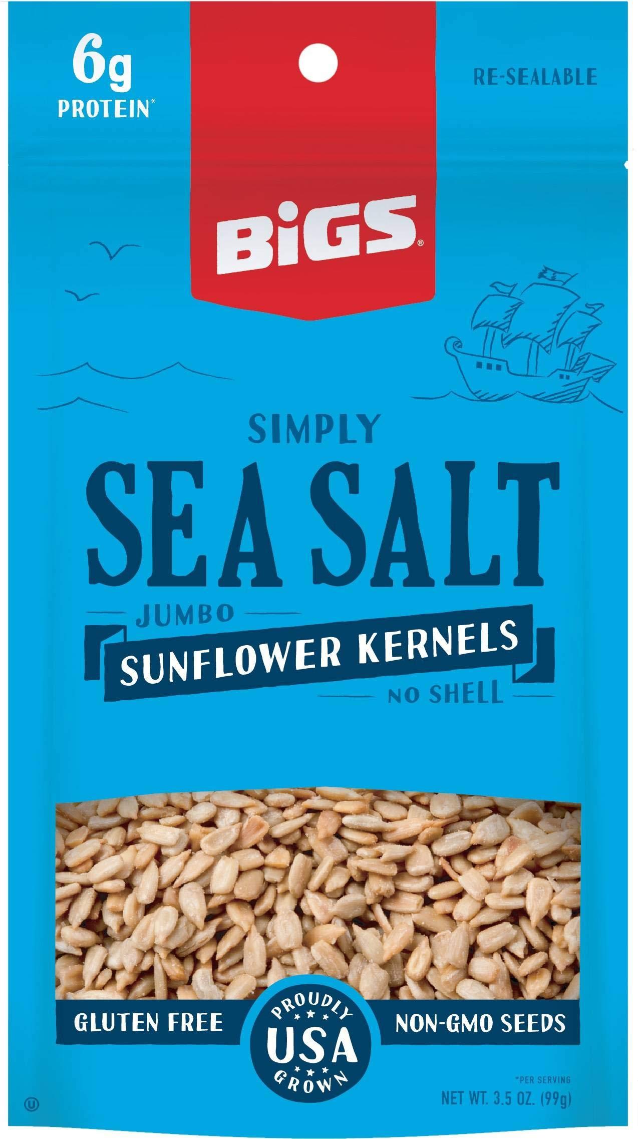 Bigs Sea Salt Sunflower Seed Kernel, 3.5 Ounce -- 36 per case. by Thanasi