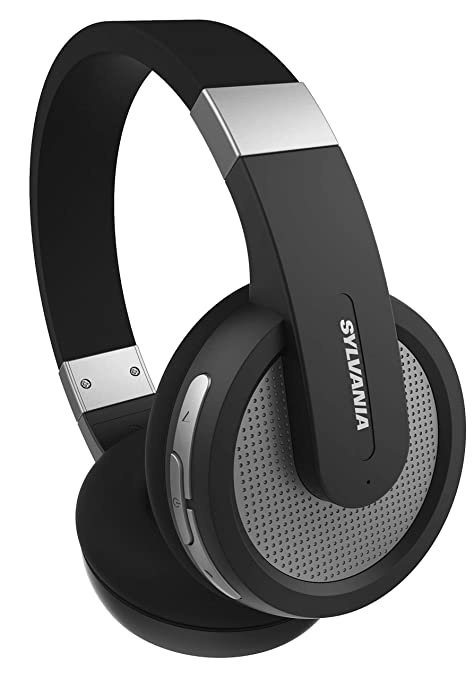 d00534e4011 Amazon.com: Sylvania Wireless Bluetooth Stereo Over Ear Headphones with  Microphone - Black: Home Audio & Theater