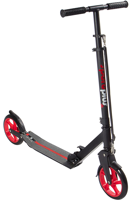SportPlus Ezy Urban-Scooter, patentierte Vollfederung, extra große Räder Ø 200mm, bis 100 kg Benutzergewicht SPORTPLUS EZY! Urban-Scooter EN 14619 geprüft SP-SC-101