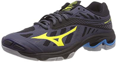 a3b5b8b04b6a Mizuno Men's Wave Lightning Z4 Volleyball Shoes, Blue  (Ombreblue/Safetyyellow/Hawaiianocean 47