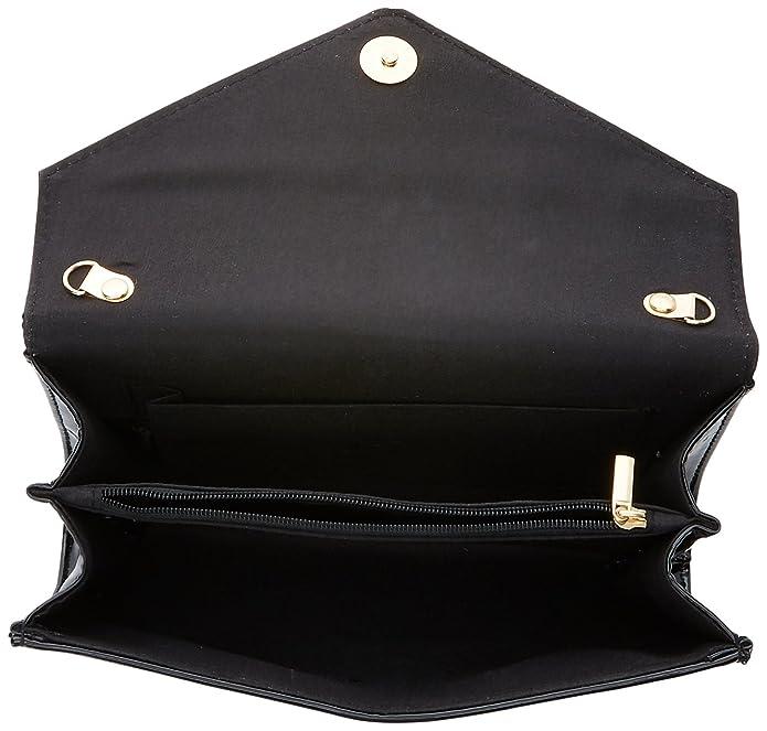 Swankyswans Womens Lena Patent Envelope Clutch Black (Black)  Amazon.co.uk   Shoes   Bags d6cd037b5f945