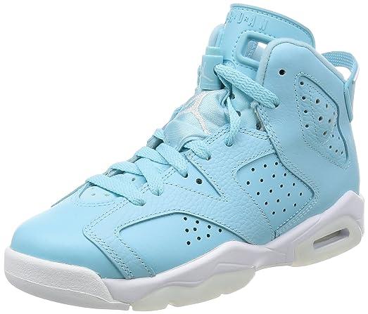 Nike Jordan Kids Air Jordan 6 Retro GG Still Blue/White/White Basketball  Shoe