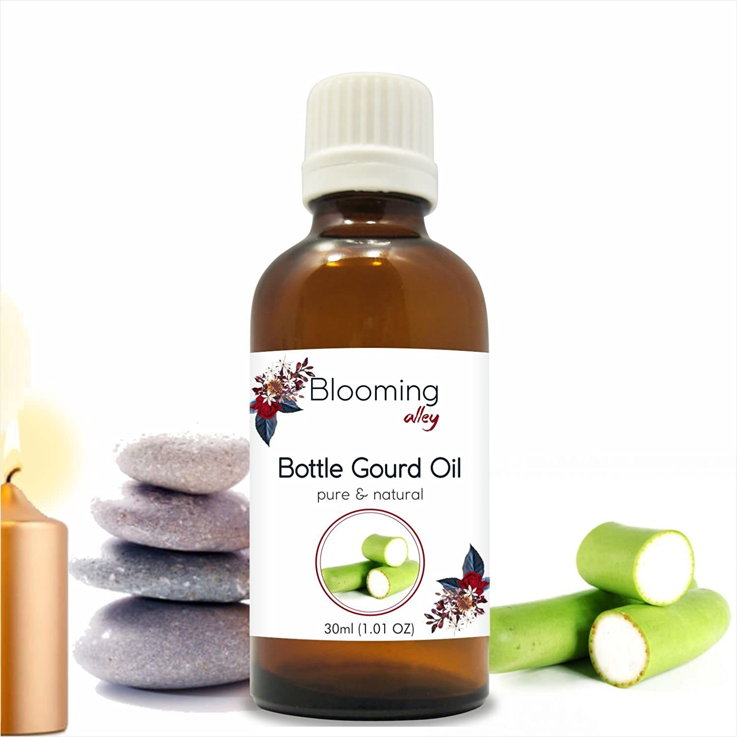 Bottle Gourd Oil (Lagenaria Siceraria) Carrier Oil 30 ml by Blooming Alley Salvia Pharmaceuticals