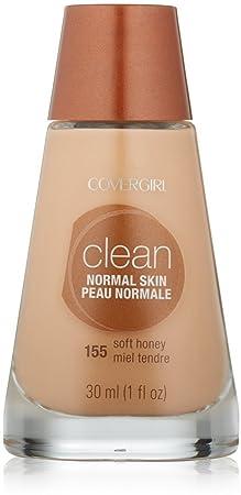 CoverGirl Clean Liquid Makeup, Soft Honey 155 1 oz Pack of 8
