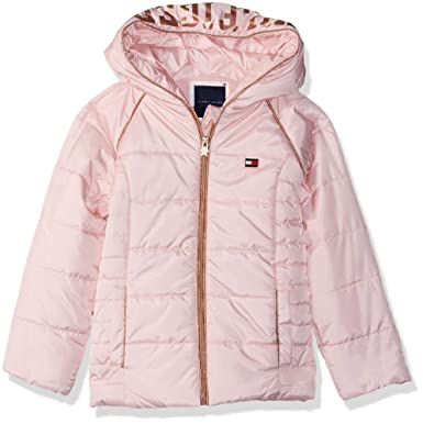 84fb37c4 Tommy Hilfiger Girls' Little Quilted Puffer Jacket, Crystal Rose 4