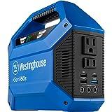 Westinghouse iGen160s Portable Power Station 155Wh Backup Lithium Battery, 110V/100W AC Outlets, Solar Generator (Solar…