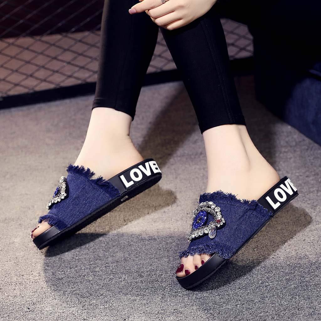 929c46d0 Darringls/_Sandalias de Primavera Mujer, Zapatillas Cintur/ó n de Cruz  Verano Peep Toe Mujer ...
