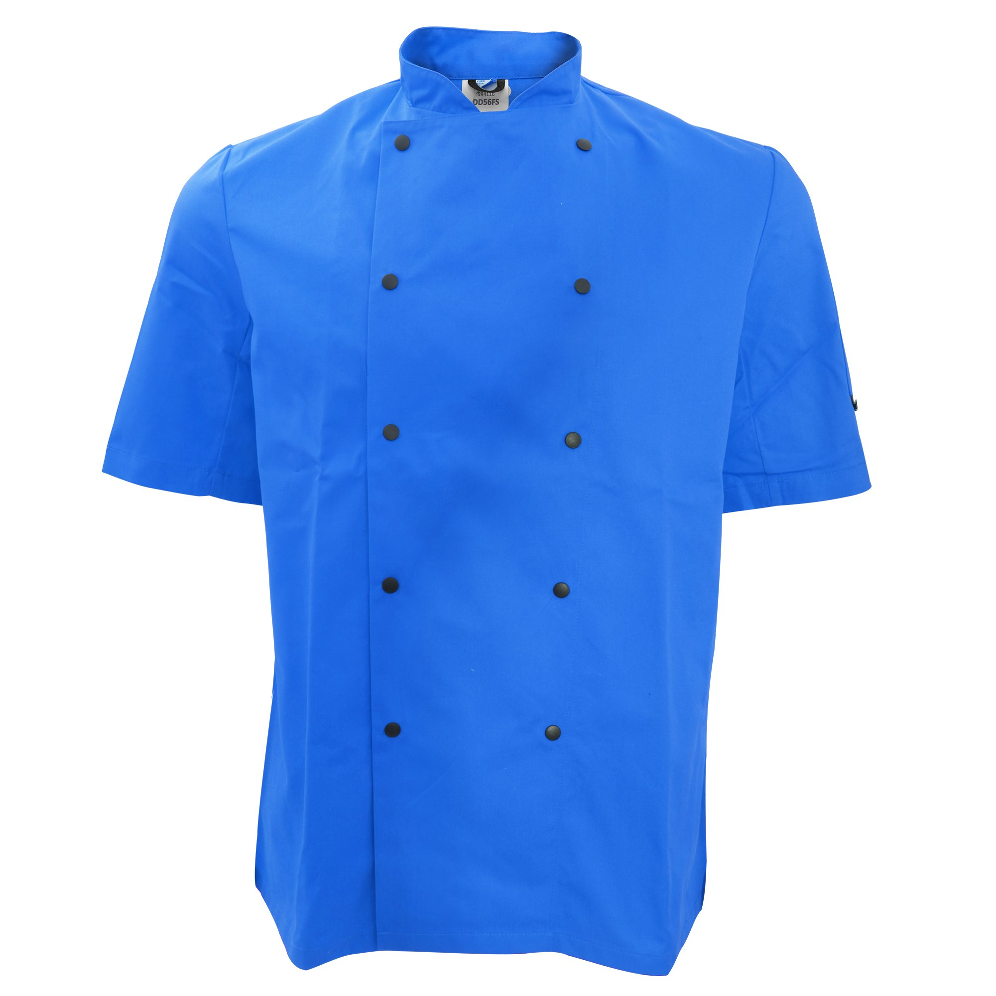 Dennys Unisex Short Sleeve Stud Button Chef Jacket (2XL) (Royal) by Denny's