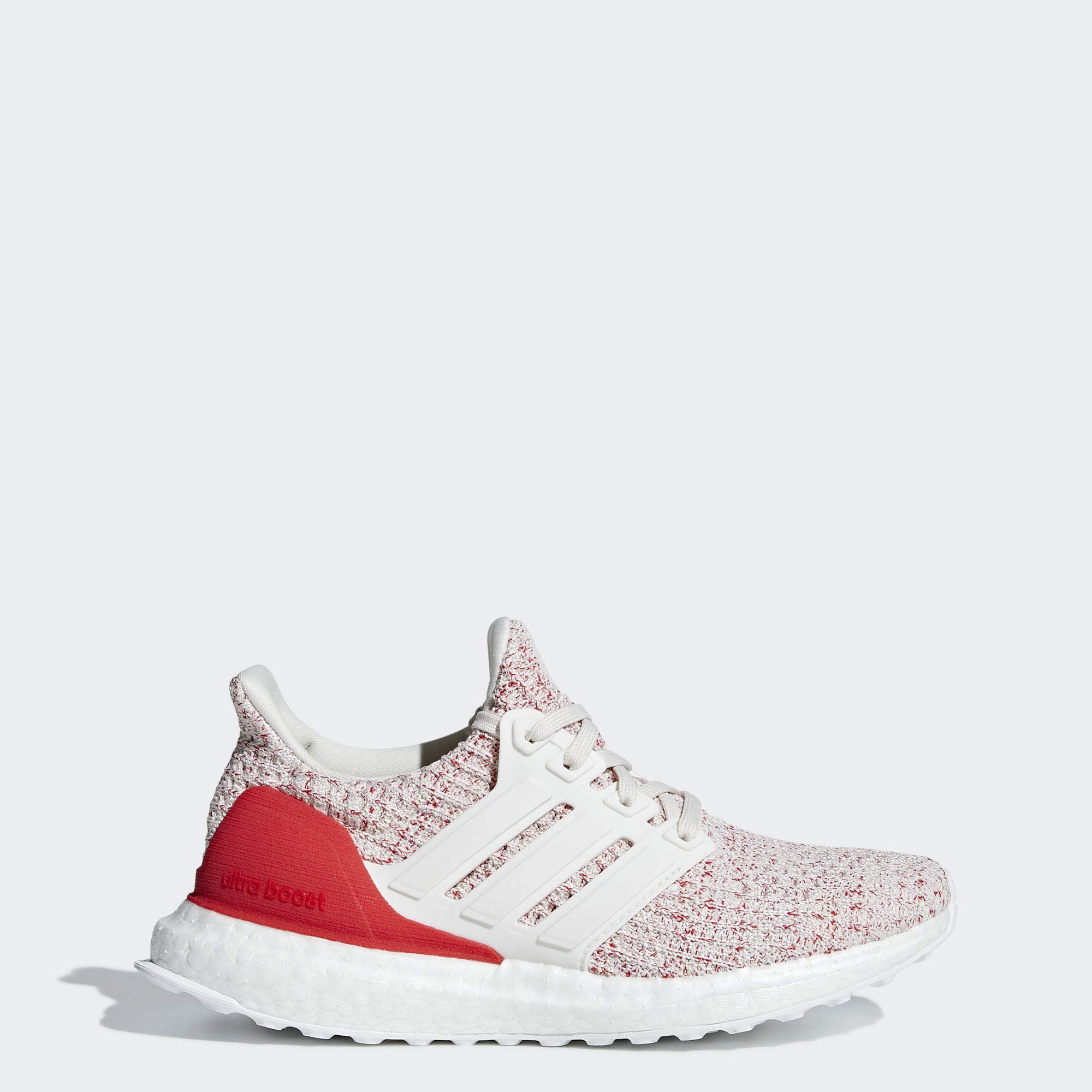 adidas Unisex Ultraboost, Chalk White/Active red, 6 M US Big Kid by adidas