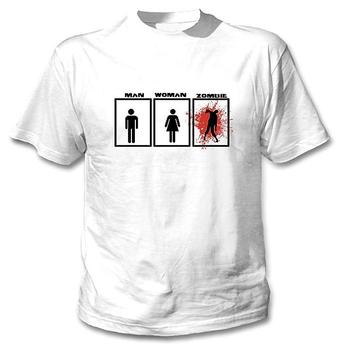 teesquare1st Zombie Man Woman Camiseta Blanca para Hombre de Algodon: Amazon.es: Ropa y accesorios