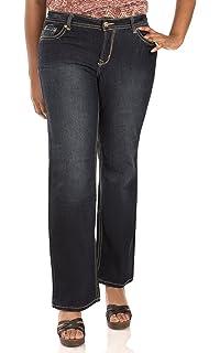 10e9cde68f08b WallFlower Women s Juniors Plus Size Basic Legendary Stretch Bootcut Denim  Jeans