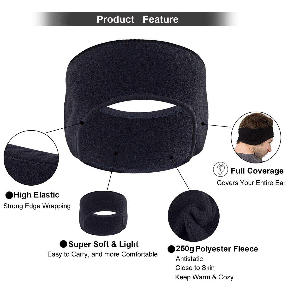 GoFriend Fleece Ear Warmers Headband//Ear Muffs Set of 2 Winter Headbands Fleece Headband for Adults Men /& Women Stay Warm /& Cozy with Our Thermal Polar Fleece /& Performance Stretch