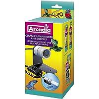 Arcadia Products Reptile Ceramic Lamp Holder And Bracket (UK Plug)