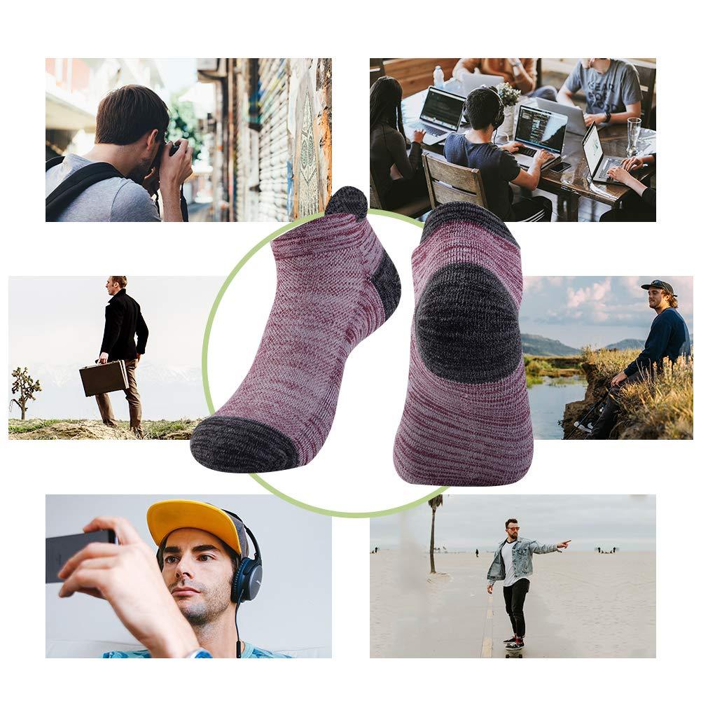 da corsa calzini da trekking calzini sportivi da esterno calzini cotone traspirante calzini bassi sportivi in cotone traspirante anti umidit/à 6 paia NAFFIC Calzini da uomo sportivi