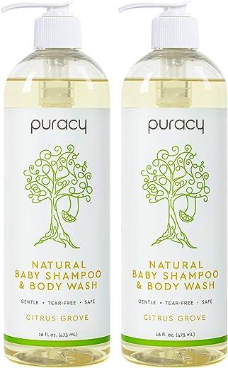 Puracy Natural Baby Shampoo & Body Wash, Gentle Bath Soap for Sensitive...