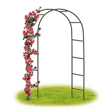 Arceau à rosiers Tuteur Colonne de Jardin Arche à rosiers avec la porte