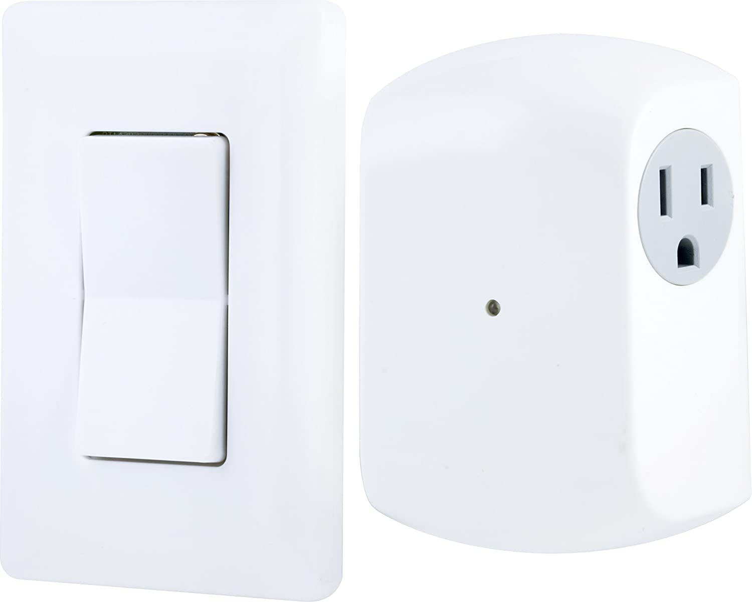 Ge 18279 Wireless Wall Switch Lighting Control Remote Operation Light Outlet Wiring On Rewiring An Electrical Plug With White