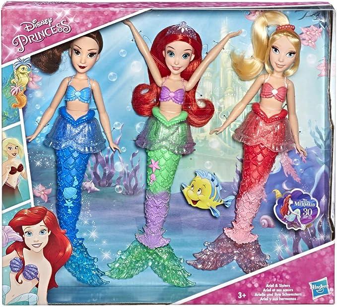 Disney Princess charaktere Ariel und Pocahontas 26 cm mehrfarbig