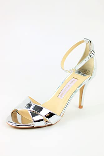 f3c4132f8d3 Amazon.com  Bridesmaid Shoes - Silver Sandals for Wedding  Handmade