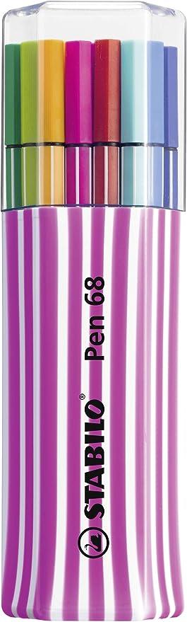 Stabilo Pen 68 6815-01-1-5 plumas de fibra, 15-él-pack único, Rosa ...