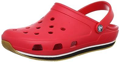 786263edf3c91 Amazon.com | Crocs Men's 14001 Retro Clog, Red/Black, 9 M US | Mules ...