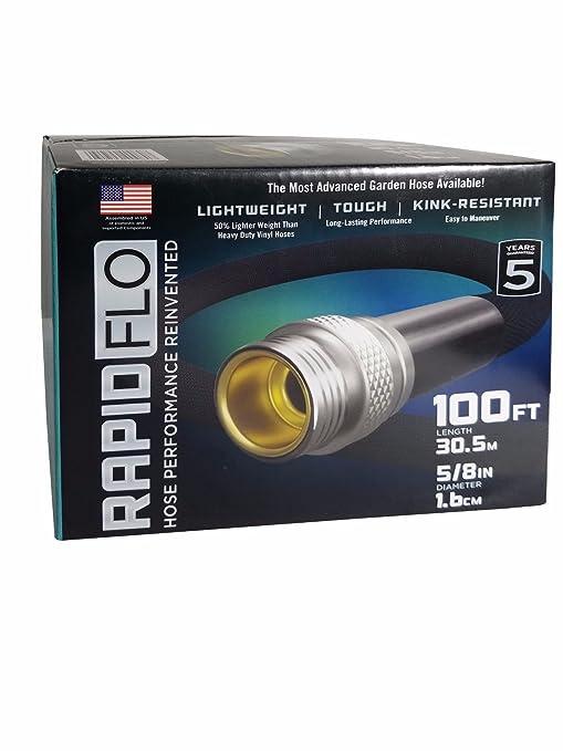 amazon com rapid flo light weight tough kink resistant garden hose