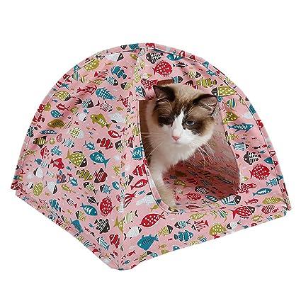 Upsmile - Tienda de campaña para mascotas para gatos y gatos, para exteriores, suave