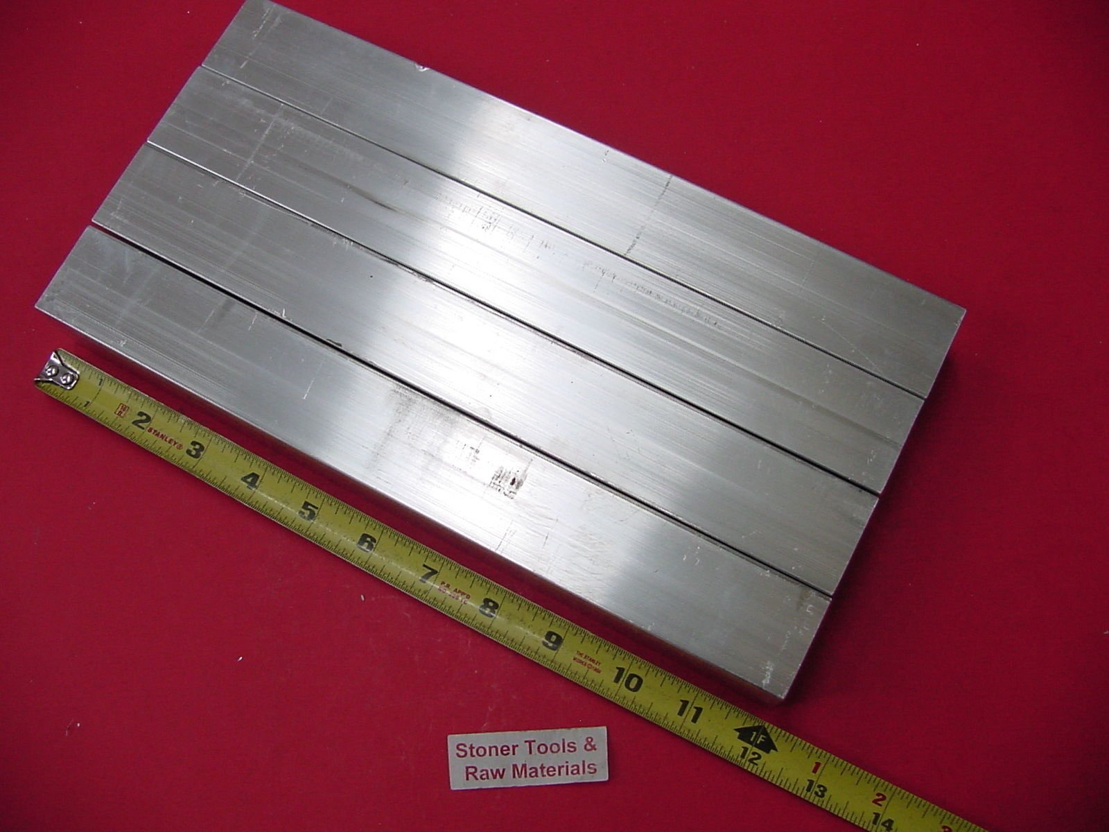 4 Pieces 1-1/2''x 1-1/2''x 1/8'' Wall x 12'' Long Aluminum Square Tube 6063 T52 Extruded Finish not Sanded or Polished by Stoner Metals