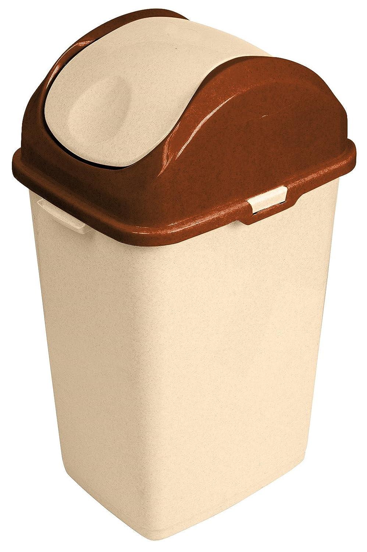 1 Gallon Mini Slim Trash Can (Beige) Superio Brand 445-429-369