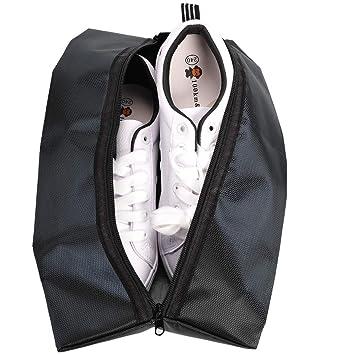 fd490fe9d Bolsa de Zapatos Impermeable con Cremallera Mantenga el Almacenamiento de  Zapatos en una Bolsa Deportiva, Maleta y Mochila con asa Adecuado para  Mujeres y ...