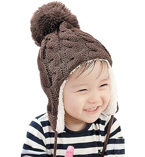 Bambini Carino Inverno Caldo Cappello Berretto Con Paraorecchie
