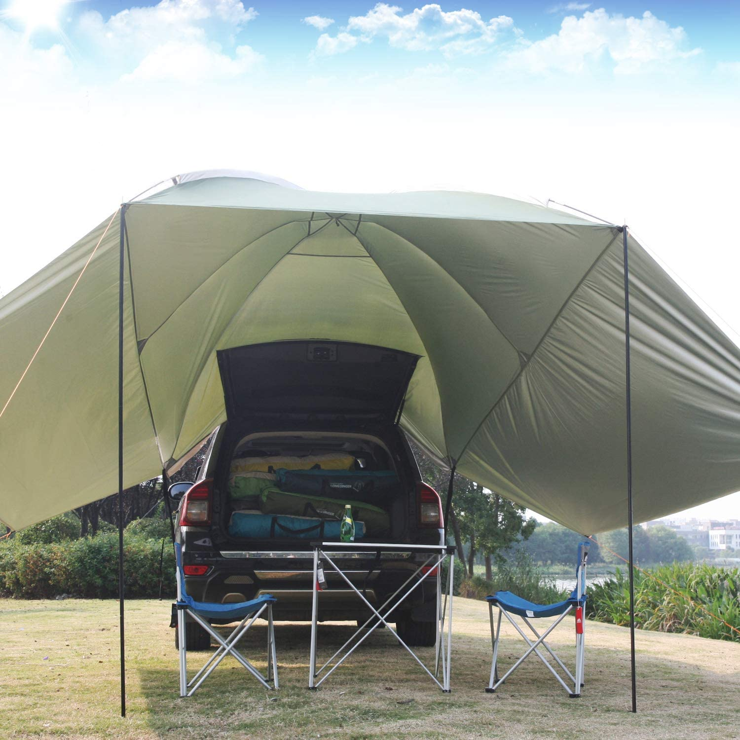 REDCAMP 10.5ft Waterproof Car Side Awning Sun Shelter ...