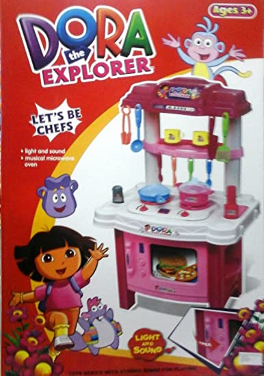 482097f6e Buy Big Size Dora Kitchen Set with Lights and Music Toy