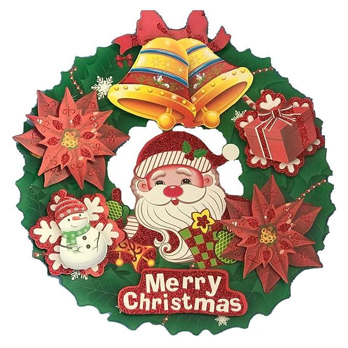 Odjoy Fan Weihnachten Glas Tür Fenster Aufkleber Kranz