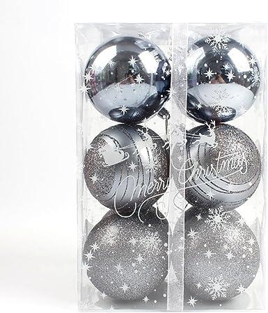 Por 6 cm Multi Pack bolas de Navidad con purpurina decorativa ...
